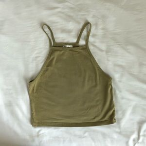 H&M Divided Olive Green Crop Top